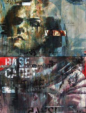 Guy Denning - Mixed media painting by Guy Denning