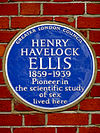 HENRY HAVELOCK ELLIS Pioneer in the scientific study of sex lived here.jpg