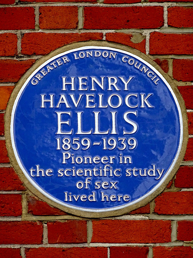 Henry Havelock Ellis blue plaque - Henry Havelock Ellis 1859-1939 pioneer in the scientific study of sex lived here