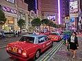 HK Causeway Bay night 羅素街 Russell Street Taxi stand June-2014.JPG