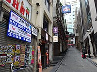 HK Central 6 Lan Kwai Fong property shop for rent agent sign n 1997 shop sign Dec-2015 DSC.JPG
