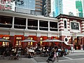 HK Central night 舊中區警署 Ex-Central Police Station 奧卑利街 Old Bailey Street footbridge 荷李活道 Hollywood Road 大館 Tai Kwun 中庭廣場 square November 2019 SS2 14.jpg