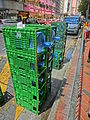 HK Wan Chai Queen's Road East 清涼水 Fountain Food Products Cool Water bottles green container June-2013.JPG