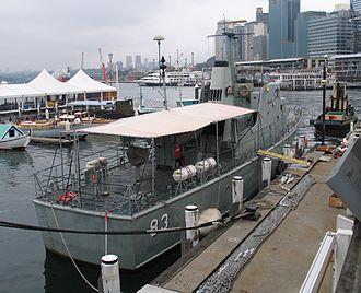 HMAS Advance (P 83) - Stern view of Advance