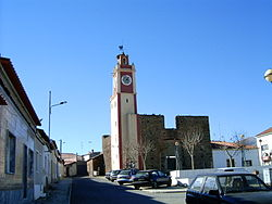 The Old clock-tower and battlements in the centre of Amaraleja