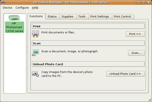 HP Linux Imaging and Printing - Image: HPLIP toolbox