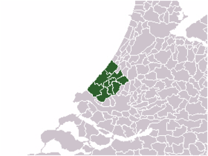 Haaglanden - A map showing location of Haaglanden.