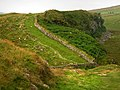 Hadrian's Wall footpath on Peel Crags - geograph.org.uk - 907628.jpg