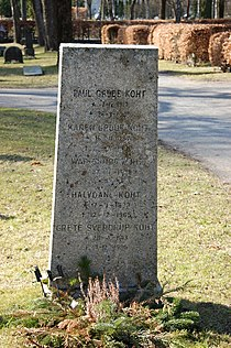 Halvdan Koht, gravminne på Nordre gravlund, Oslo, DSC 2118.JPG