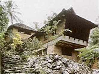 Laurie Baker - The Hamlet at Nalanchira in Thiruvananthapuram, which was home to Baker and his wife since 1970. The house, which resides on a hill top, was constructed by Baker.