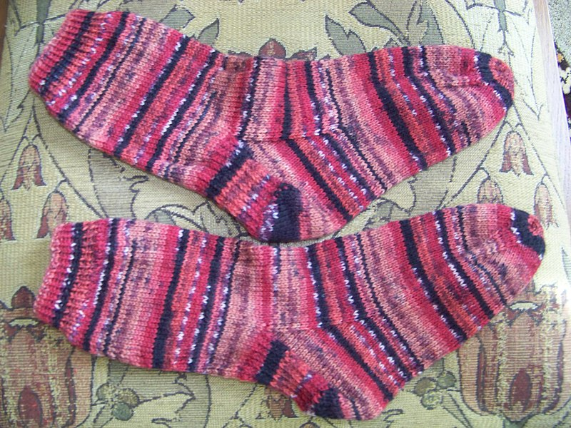 File:Hand Knitted Socks.JPG