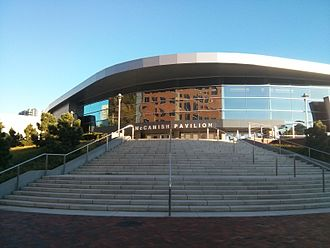 McCamish Pavilion - North entrance of the pavilion on 10th Street