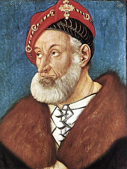 Christoph I of Baden, by Hans Baldung Grien, 1515 Hans Baldung - Count Christoph I of Baden - WGA01215.jpg
