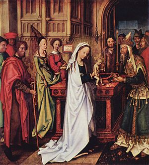 Presentation of Jesus at the Temple - Presentation of Christ at the Temple by Hans Holbein the Elder, 1500–01 (Kunsthalle, Hamburg)