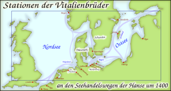 Historical scenes of the Vitalienbrüder around 1400