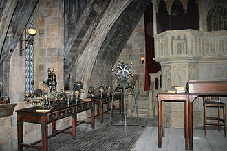 Harry Potter and the Forbidden Journey - The Defence Against the Dark Arts classroom forms a portion of the queue at Islands of Adventure