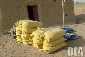 Illegal drug trade - Hashish seized in Operation Albatross, a joint operation of Afghan officials, NATO, and the DEA
