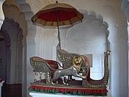 Hathi Howdah or Elephant seat in the Mehrangarh Fort Museum