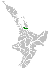 Location of Hauraki District