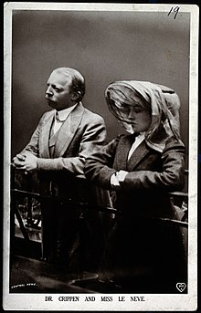 Hawley Harvey Crippen and Ethel Le Neve. Photograph by Arthu Wellcome V0026226.jpg