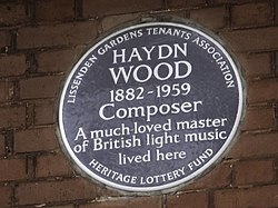 Haydn wood plaque in london
