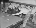 Hayward, California. Pool Recreation. A typical small town phenomenon, Saturday in the pool hall. The youths here are... - NARA - 532236.tif