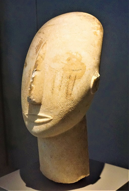 Head of a Cycladic Statue, Keros-Syros Culture - National Archaeological Museum, Athens