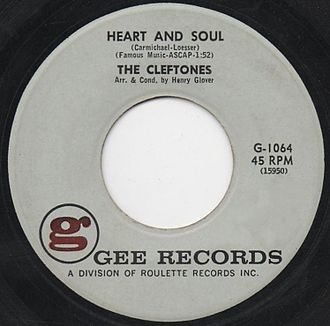 Heart and Soul (1938 song) - Image: Heart and Soul 1961 Cleftones single