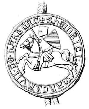 Henry II, Margrave of Baden-Hachberg - Seal of Henry II of Baden-Hachberg