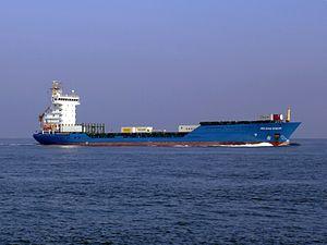 Helena Sibum p2 approaching Port of Rotterdam, Holland.JPG