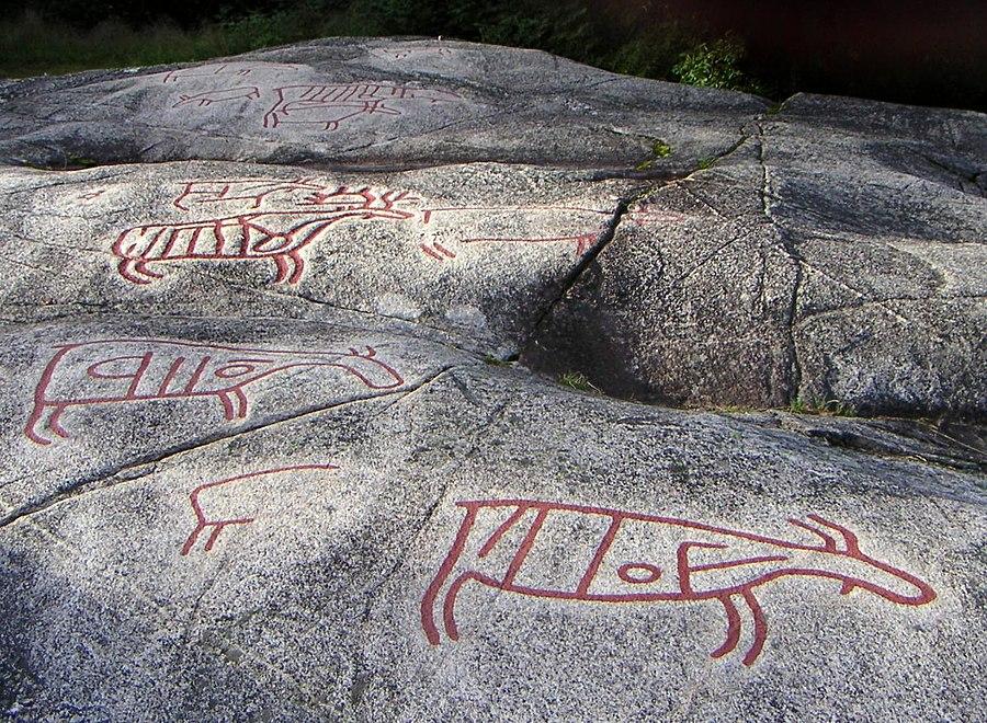 Rock carvings at Møllerstufossen