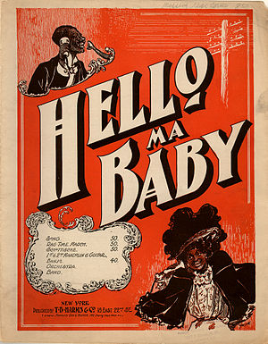 Hello! Ma Baby - Original sheet-music cover from 1899