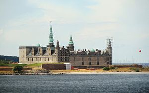 Øresund - Kronborg castle is situated on the extreme northeastern tip of the island of Zealand at the narrowest point of the Øresund.
