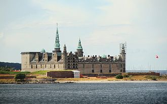 Øresund - Kronborg castle is situated on the extreme northeastern tip of the island of Zealand at the narrowest point of the Øresund