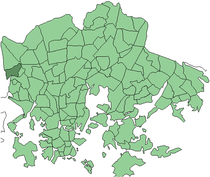 Position of Reimarla within Helsinki