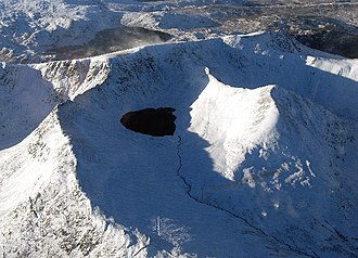 Geology of England - Helvellyn, a remnant of volcanic activity in the Lake District