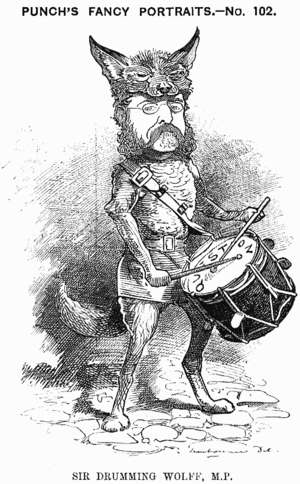 Henry Drummond Wolff - Caricature from Punch, 1882