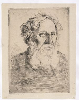 Solomon Schechter - The late Solomon Schechter (1912/1913), etching by Hermann Struck