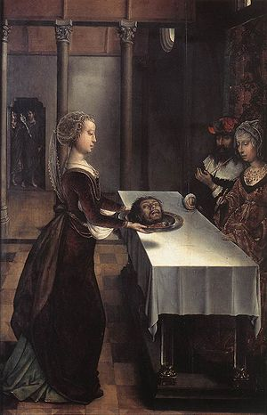 Juan de Flandes - Salome with the head of John the Baptist, c. 1496, now in the Museum Mayer van den Bergh
