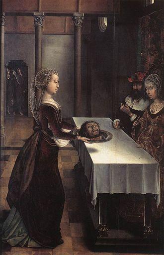 Juan de Flandes - Salome with the head of John the Baptist, c. 1496, now in the Museum Mayer van den Bergh