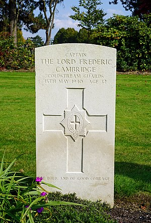 Lord Frederick Cambridge - Grave, Heverlee War Cemetery