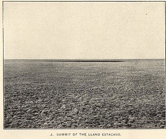 Buffalo Soldier tragedy of 1877 -  The level surface of the Llano Estacado with natural grass cover as seen in 1900.