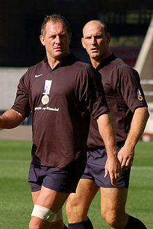 Photo de Richard Hill et Lawrence Dallaglio