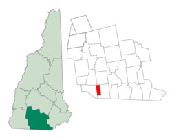 Location in Hillsborough County, New Hampshire