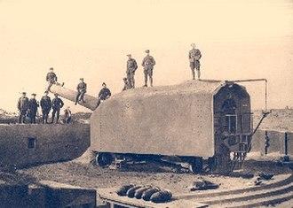 Fort Napoleon, Ostend - Image: Hindenburgbatterij Fort Napoleon 1918