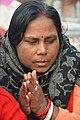 Hindu Devotee Prays To Sun - Makar Sankranti Observance - Kolkata 2018-01-14 6897.JPG