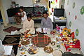 Hindu puja at home, Ahmedabad 06.JPG