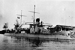 River monitor - President Masaryk, the flagship of the Czechoslovak River Flotilla