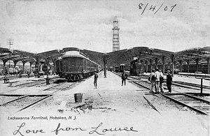 Hoboken Terminal - Hoboken Terminal under construction, 1907