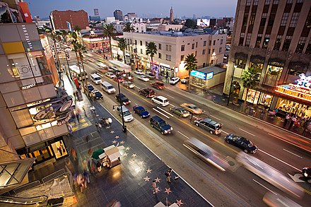 Hollywood Boulevard as seen from the Dolby Theatre, prior to 2006 Hollywood boulevard from kodak theatre.jpg